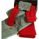 Laredo Star Bath Towel Set (3) Pc Rodeo Red