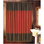 Cheyenne Western Shower Curtain Red