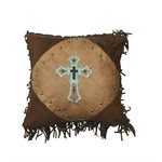 Las Cruces II Cross Embroidered Pillow